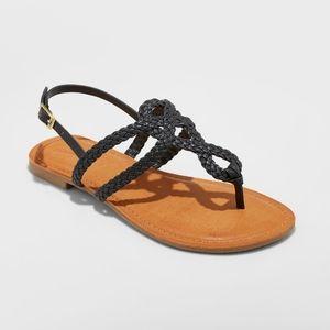 Jana Braided Thong Ankle Strap Sandal